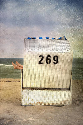 Feet And Beach Chair Art Print by Joana Kruse