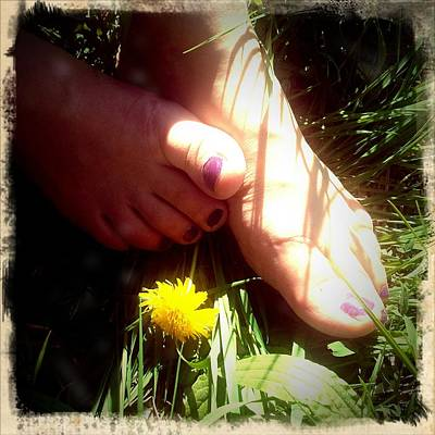 Woman Wall Art - Photograph - Feet In Grass - Summer Meadow by Matthias Hauser