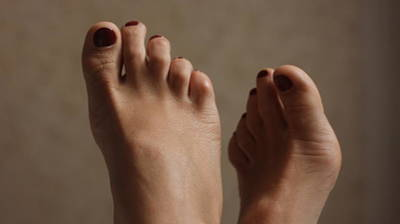 Feet Of A Happy Woman After Coupling Art Print by Svetlana  Sokolova