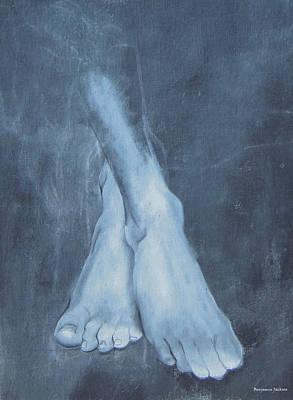 Monochromatic Study Painting - Feet Study by Ben Jackson