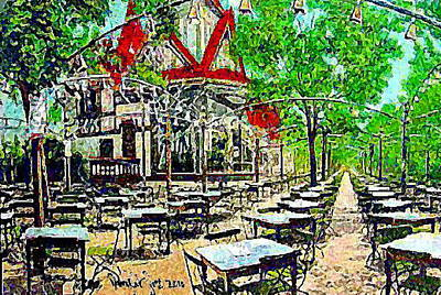 Painting - Feltman's Deutscher Garden Restaurant At Coney Island 1910 by Dwight Goss