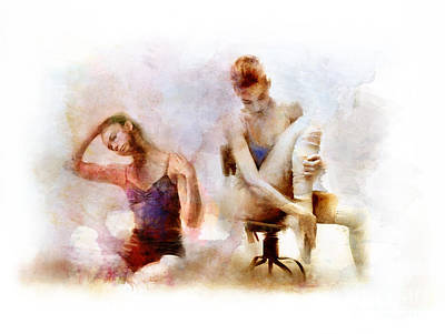 Ballet Dancers Mixed Media - Female Ballet by James Robinson