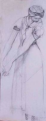 Female Figure 4269 Art Print by Elizabeth Parashis