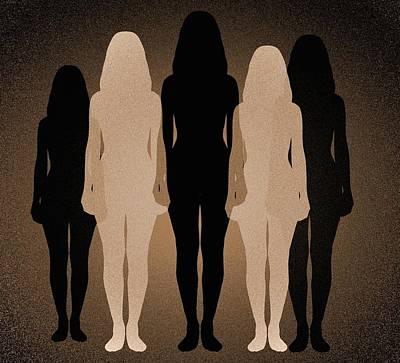 Female Identity, Conceptual Image Art Print by Victor De Schwanberg