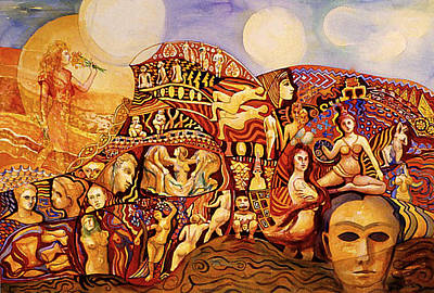 Painting - Female Journey by Nancy Wait