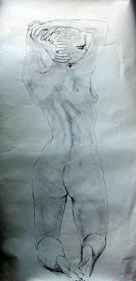 Painting - Female Nude 1166 by Elizabeth Parashis