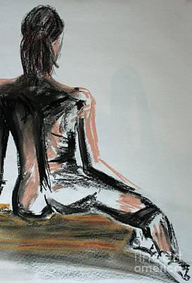 Female Torso Drawing - Female Nude by Julie Lueders