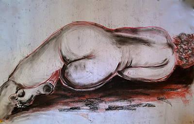 Female Nude Sleeping Art Print