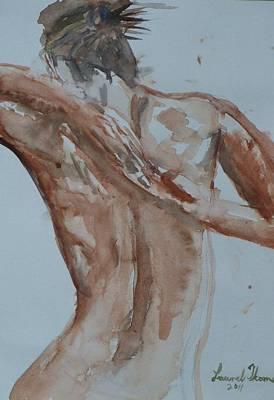 Female Nude Study No 1 Print by Laurel Thomson
