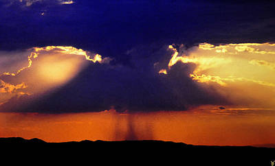 Thunder Painting - Female Rain by David Lee Thompson