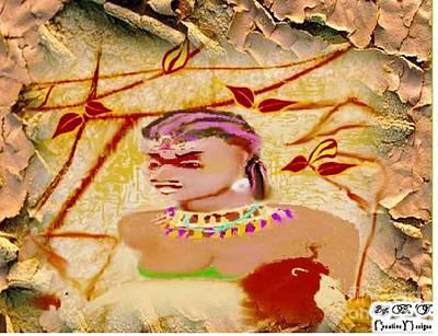 Painting - Female Warrior by Belinda Threeths