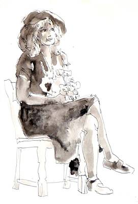 Painting - Femmes Et Fleurs by Joan  Jones