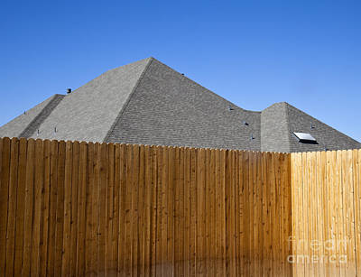 Anonymity Photograph - Fence And Roof by David Buffington