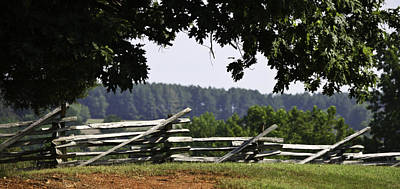 Fence At Appomattox Art Print