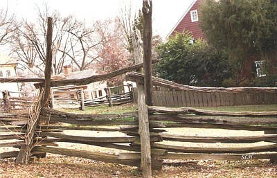 Photograph - fence at Old Salem by Lee Hartsell