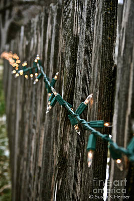 Photograph - Fence Lights by Susan Herber