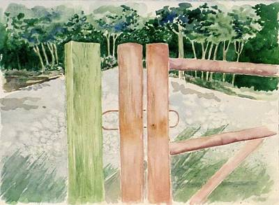 Painting - Fence Posts by Renee Goularte