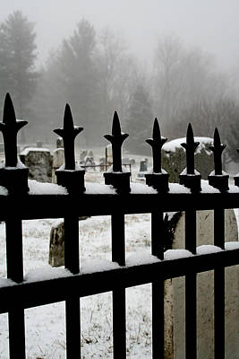 Photograph - Fence With Snow by Van Corey