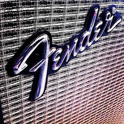 Guitar Wall Art - Photograph - #fender #guitar #amp #electric by Alon Ben Levy