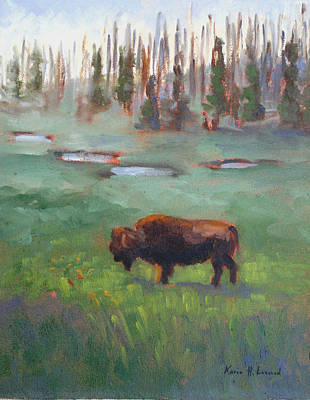 Nature Scene Painting - Ferdinand Yellowstone Np by Karin  Leonard