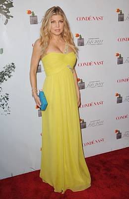 Fergie Wearing A Bcbg Max Azria Atelier Art Print by Everett