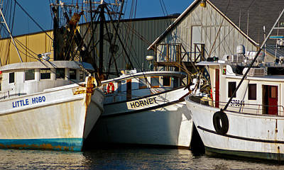 Photograph - Fernandina Shrimpboats by Ronald Broome