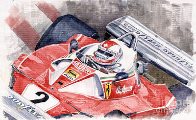 Clay Painting - Ferrari 312 T 1976 Clay Regazzoni by Yuriy  Shevchuk
