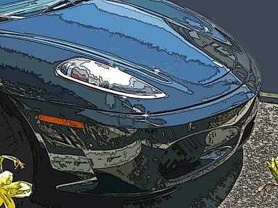 Ferrari 430 Nose Art Print by Samuel Sheats