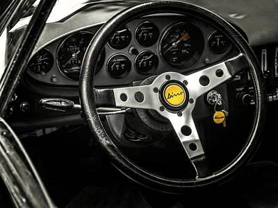 Cockpit Digital Art - Ferrari Dino by Douglas Pittman