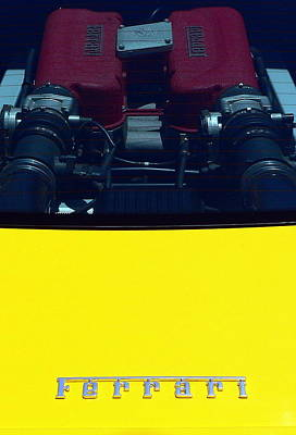 Photograph - Ferrari Engine by Jeff Lowe