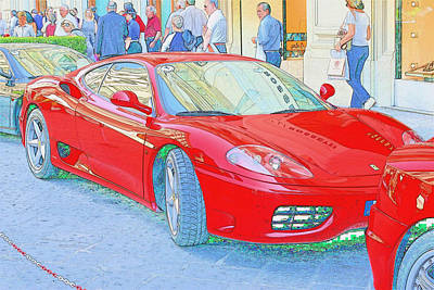 Ferrari In Rome Art Print by Don Fleming