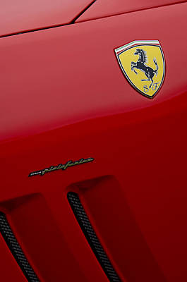 Photograph - Ferrari Pininfarina Emblem by Jill Reger