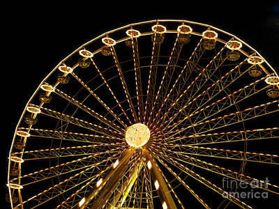 Funfair Photograph - Ferris Wheel by Bernard Jaubert