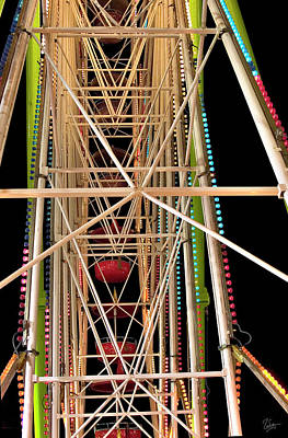 Photograph - Ferris Wheel Detail by Endre Balogh