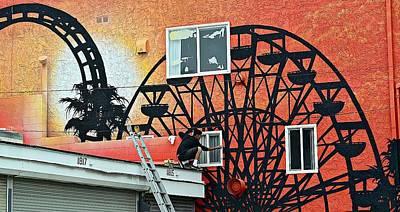Artwork At Venice Beach Photograph - Ferris Wheel by Fraida Gutovich
