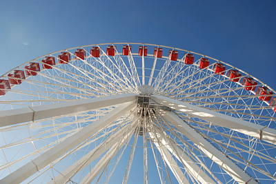 Photograph - Ferris Wheel From The Bottom by Richard Bryce and Family
