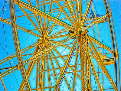Ferris Wheel Art Print by Gregory Dyer
