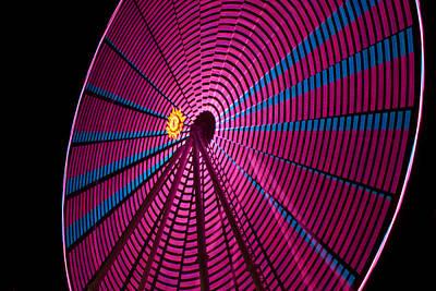 Red Roses - Ferris Wheel in Pink by Darleen Stry