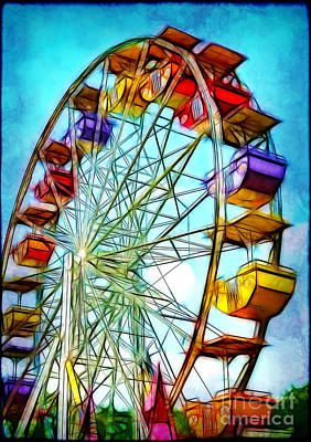 Photograph - Ferris Wheel by Judi Bagwell