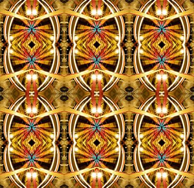 Abstract Realism Digital Art - Ferris Wheel Lights by Glennis Siverson