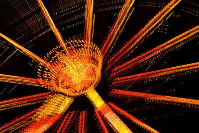 Ferris Wheel Lights Art Print by Jeffrey Auger