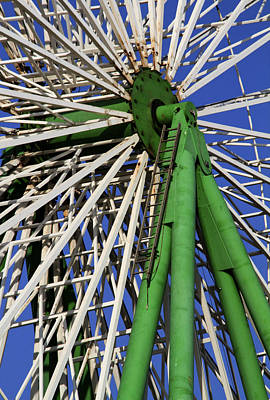 Family Holiday Parks Photograph - Ferris Wheel  by Stelios Kleanthous