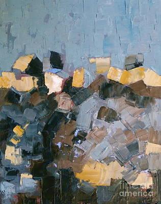 Blue Black Drawing - Fertile Ground by Susan A Becker