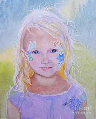 Strawberry Festival Painting - Festival Child by Susan  Clark