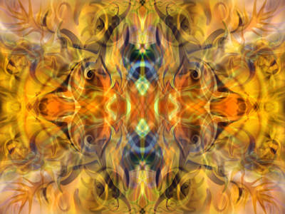 Abstract Other Worlds Digital Art - Festival Of Fire by Lynzi Wildheart