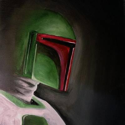 Painting - Fett by Chris  Leon