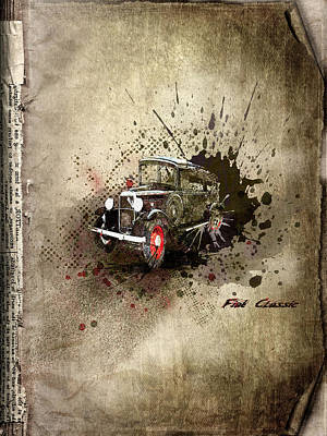 Free Mixed Media - Fiat Classic by Svetlana Sewell