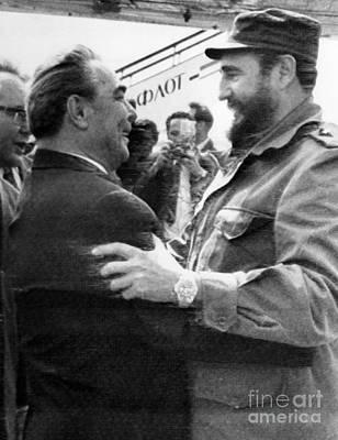Photograph - Fidel Castro (1926- ) by Granger