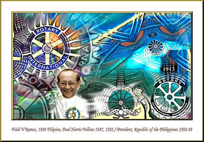 Digital Art - Fidel V Ramos by Glenn Bautista