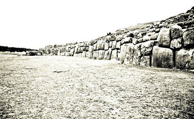 35mm Photograph - Field At Sacsayhuaman by Darcy Michaelchuk